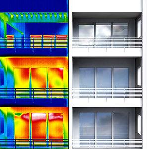 Apartment building thermal imaging half